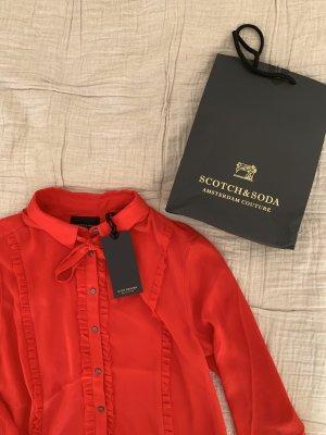 Scotch&Soda Maison Scotch Bluse Rot S 36 NEU