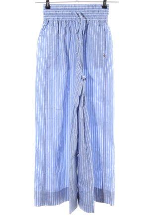 Scotch & Soda Pantalón anchos azul-blanco estampado a rayas look casual