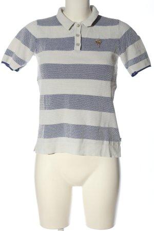 Scotch & Soda Polo Shirt white-blue striped pattern casual look