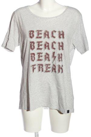 Scotch & Soda Print-Shirt hellgrau-pink meliert Casual-Look