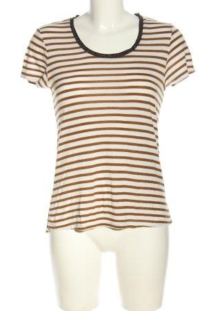 Scotch & Soda T-shirt rayé brun-blanc cassé motif rayé style décontracté