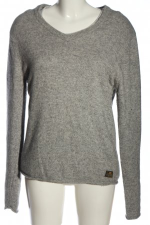 Scotch & Soda Rundhalspullover hellgrau meliert Casual-Look