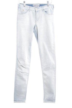 Scotch & Soda Skinny Jeans wollweiß-blassblau Washed-Optik