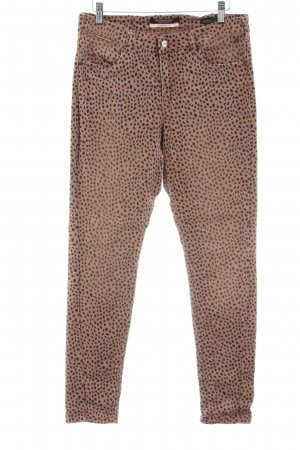 Scotch & Soda Slim Jeans hellorange-bronzefarben Allover-Druck Casual-Look