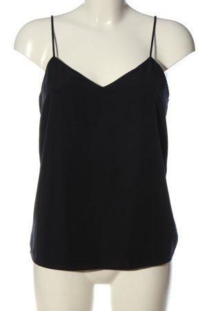 Scotch & Soda Top z cienkimi ramiączkami czarny-niebieski W stylu casual