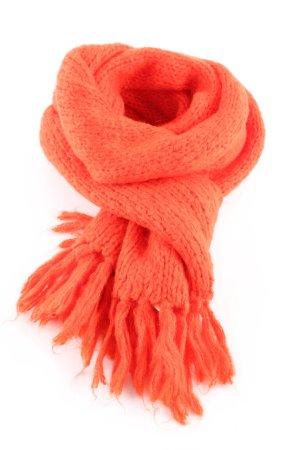 Scotch & Soda Gebreide sjaal licht Oranje