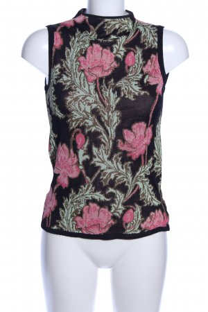 Scotch & Soda Knitted Top black-pink flower pattern business style