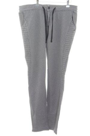 Scotch & Soda Pantalon de jogging blanc-noir imprimé allover