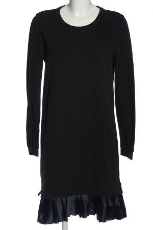 Scotch & Soda Vestido de tela de sudadera negro-azul look casual