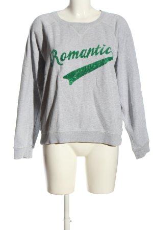 Scotch & Soda Sweatshirt hellgrau Schriftzug gedruckt Casual-Look