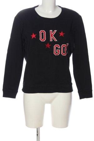 Scotch & Soda Sweatshirt schwarz-rot Schriftzug gedruckt Casual-Look