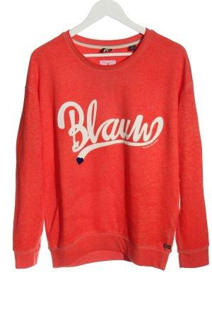 Scotch & Soda Sweatshirt rot Schriftzug gedruckt Casual-Look