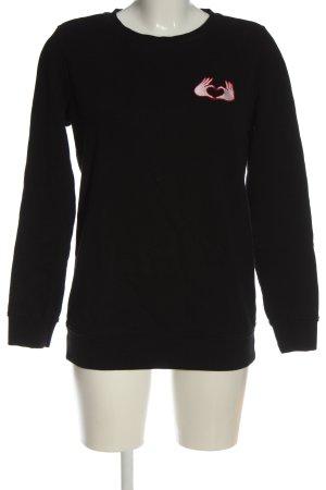 Scotch & Soda Sweatshirt schwarz Motivdruck Casual-Look