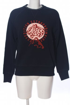 Scotch & Soda Sweatshirt schwarz-rot Motivdruck Casual-Look