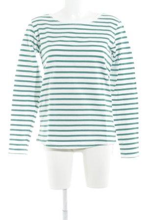 Scotch & Soda Sweatshirt waldgrün-weiß Ringelmuster Casual-Look