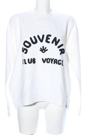Scotch & Soda Sweatshirt weiß-schwarz Motivdruck Casual-Look
