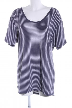 Scotch & Soda T-Shirt blau-weiß Streifenmuster Casual-Look