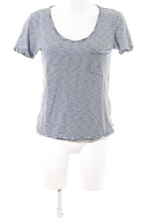 Scotch & Soda T-Shirt schwarz-weiß Streifenmuster Casual-Look