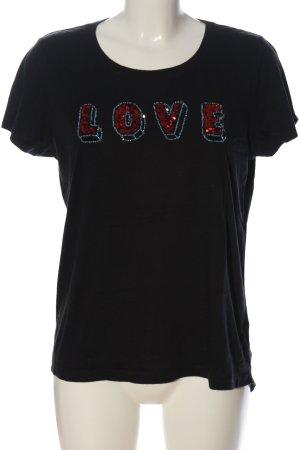 Scotch & Soda T-Shirt schwarz-rot Schriftzug gedruckt Casual-Look