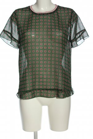 Scotch & Soda Transparent Blouse green-red flower pattern casual look