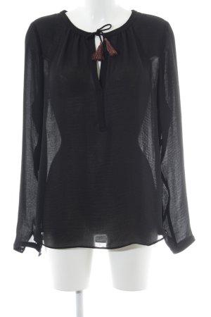 Scotch & Soda Transparenz-Bluse schwarz-rostrot