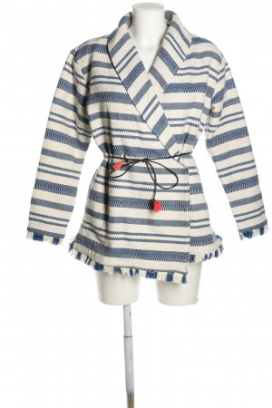 Scotch & Soda Wraparound Jacket white-blue striped pattern casual look