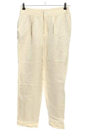 Scoth & Soda Lniane spodnie kremowy W stylu casual