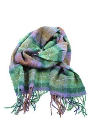 ScotlandShop Bufanda de lana verde-lila estampado a cuadros look casual