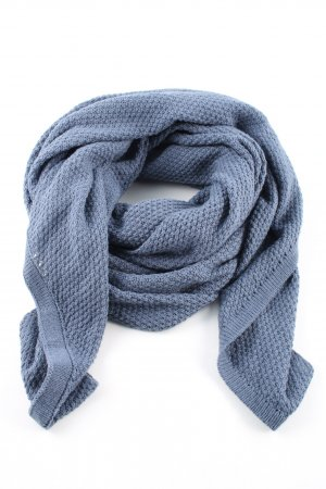 SCOUT Crochet Scarf blue casual look