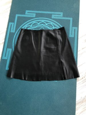 SCOUT Falda de cuero negro
