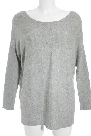SCOUT Oversized Pullover hellgrau-grau meliert Casual-Look
