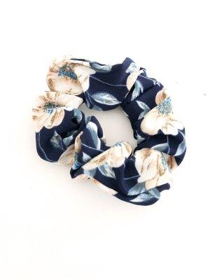 Scrunchie blau Blumen