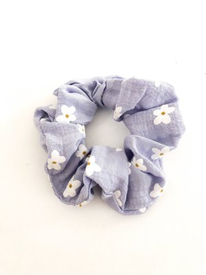 Scrunchie Blumen lila
