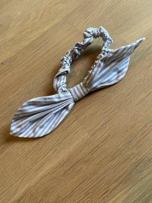 Scrunchie Haarband mit Schleife Baumwolle Streifen