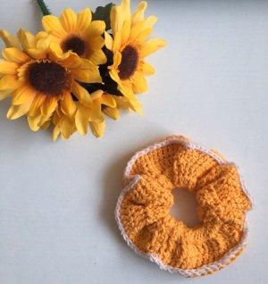 handmade Ribbon yellow-white