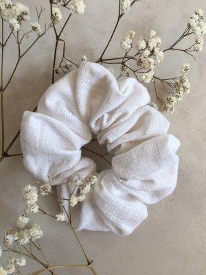 handmade Ribbon white linen