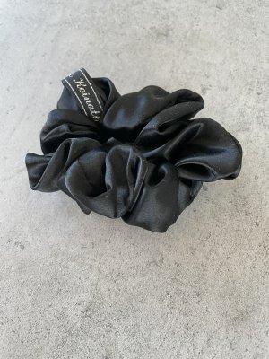 Scrunchie - schwarz - aus reiner Seide - NEU!
