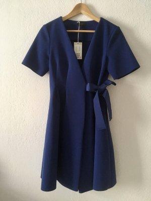 COS Robe portefeuille bleu