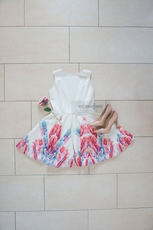 Scuba Kleid mit Kristall Print