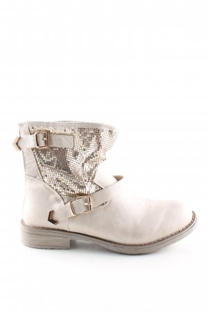 SDS Ankle Boots wollweiß-goldfarben Casual-Look