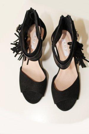 SDS Collection hohe Sandaletten schwarz