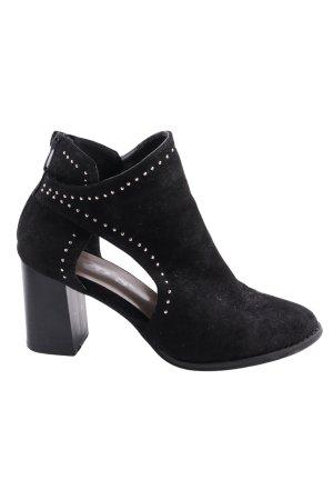 SDS Cut-Out-Stiefeletten schwarz Elegant