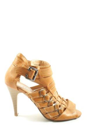 SDS High Heel Sandaletten hellorange Casual-Look