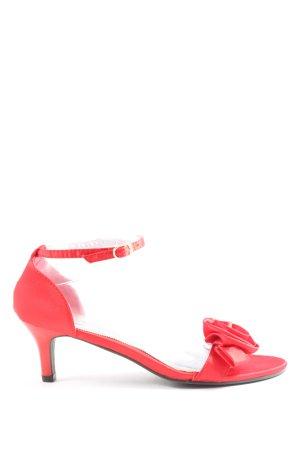 SDS High Heel Sandaletten rot-schwarz Casual-Look
