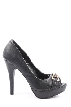 SDS High Heels schwarz Casual-Look
