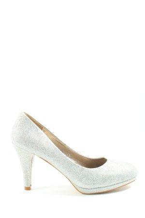 SDS Chaussure à talons carrés blanc style d'affaires