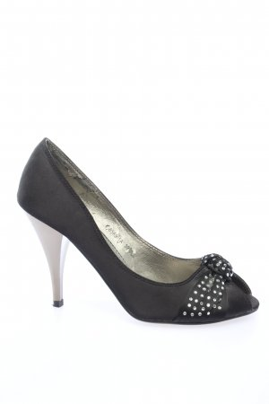 SDS Peeptoe Pumps schwarz Casual-Look