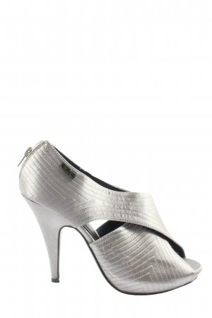 SDS Peeptoe Pumps silberfarben Casual-Look