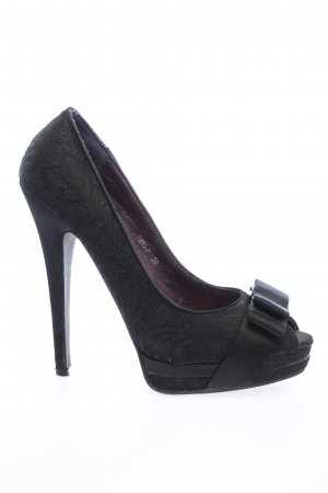 SDS Peeptoe Pumps schwarz Business-Look