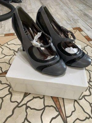 SDS Strapped pumps grey-black